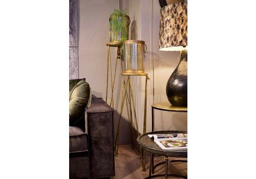 Planter stand goud