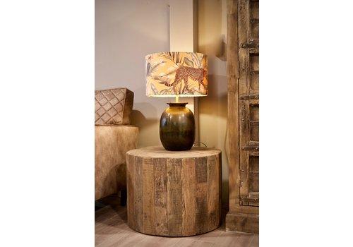 Lamp brons /  luipaard kap