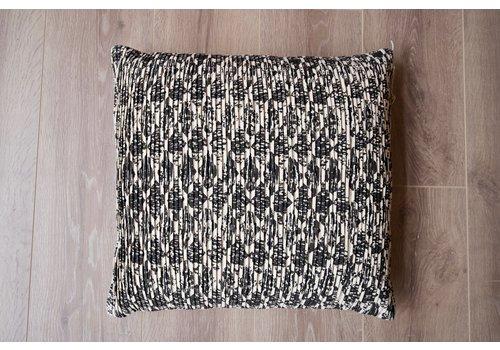 Kussen patroon zwart/wit