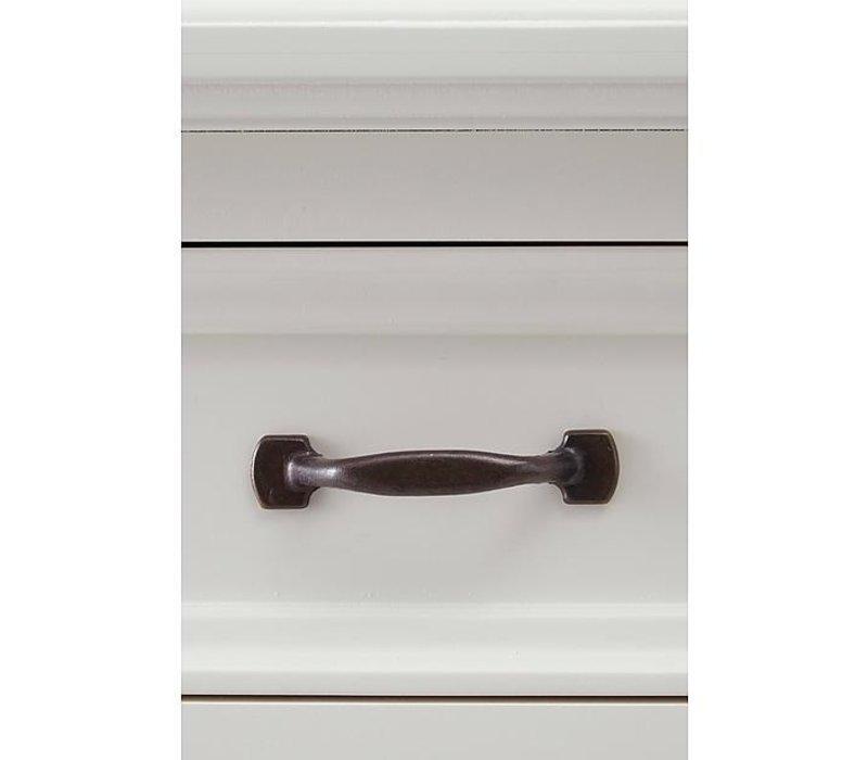 Bretonse glaskast wit 180 cm