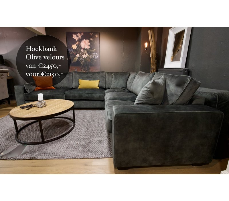 Hoekbank Olive showroom model