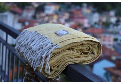 Plaid Manifattura Lombarda geel
