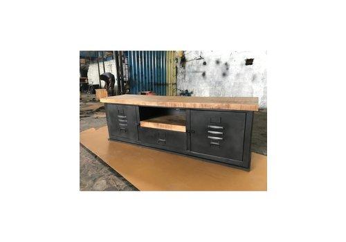 Industrieel TV cabinet Lion