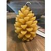 Brynxz collections Kaars dennenappel geel groot