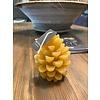 Kaars dennenappel geel klein