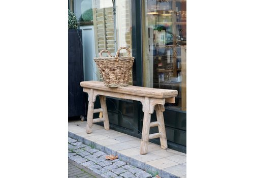 Oud houten bankje naturel