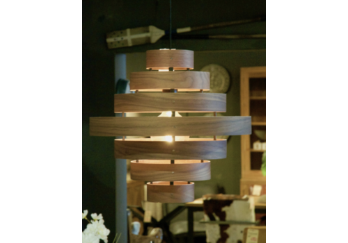 Houten hanglamp Walnut
