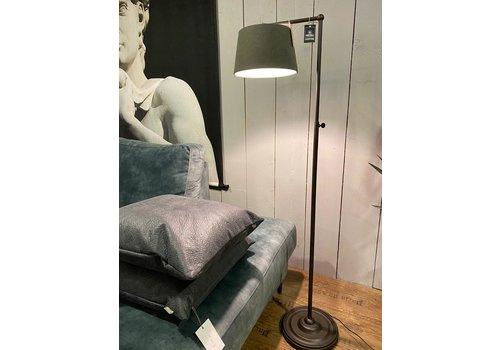 Frezoli Lighting Vloerlamp Spinoza met muisgrijze kap
