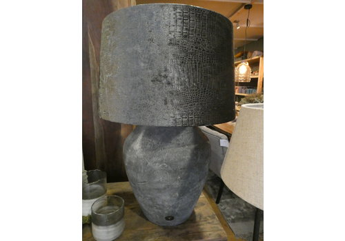 Vintage kruiklamp met crocokap