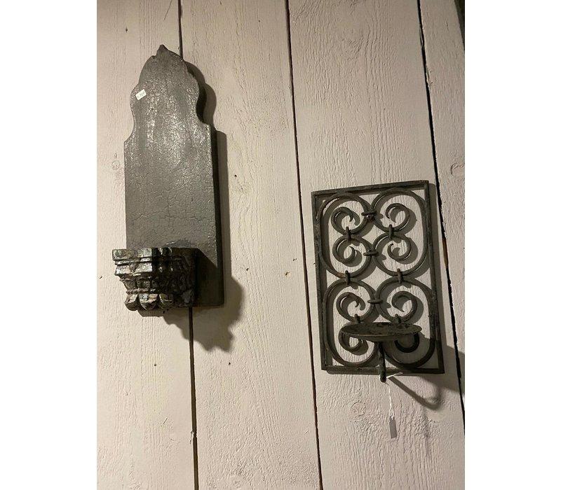 Wandkandelaar Ornament Oud Hout
