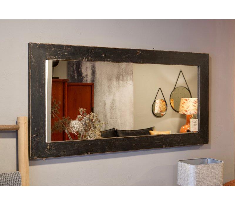 Wandspiegel hout zwart