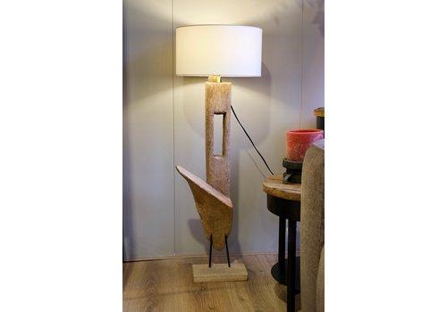 Vloerlamp ornament hout 1