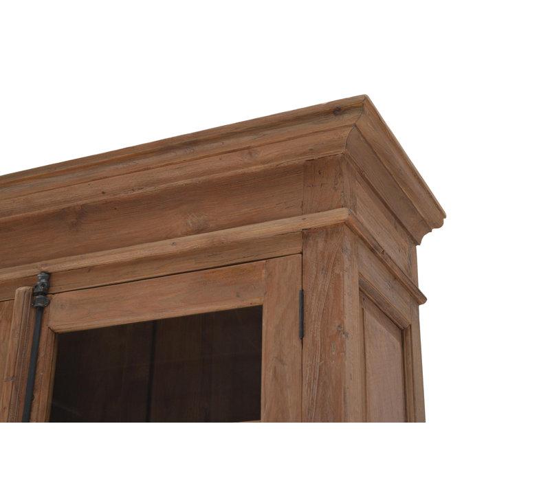 Vitrinekast Mixed Wood met glasdeuren