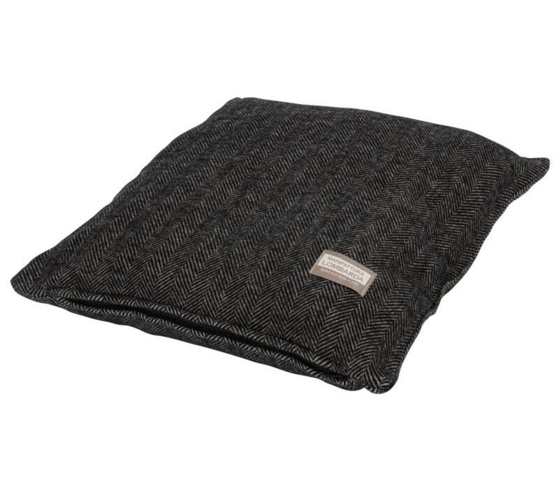 Manifattura Lombarda sierkussen 45 x 45 zwart