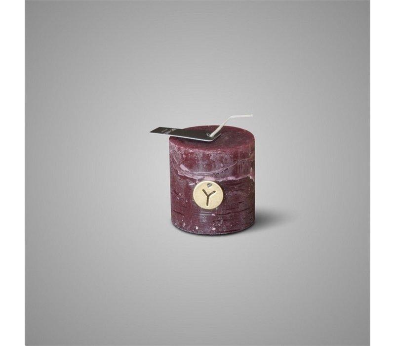 Rustic Candle Bordeaux D.7 H.7