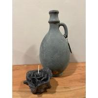 Candle Rose Black D.12 H.8