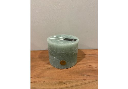 Rustic Candle 3 Fuses Sage Green D.14 H.11