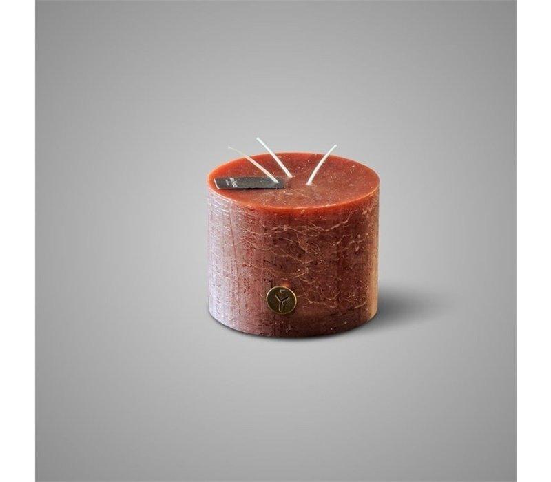 Rustic Candle 3 Fuses Cognac D.14 H.11