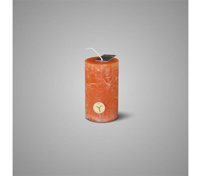 Rustic Candle Deep Rust D.7 H.12