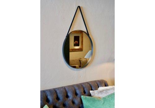 Spiegel rond metaal zwart 60