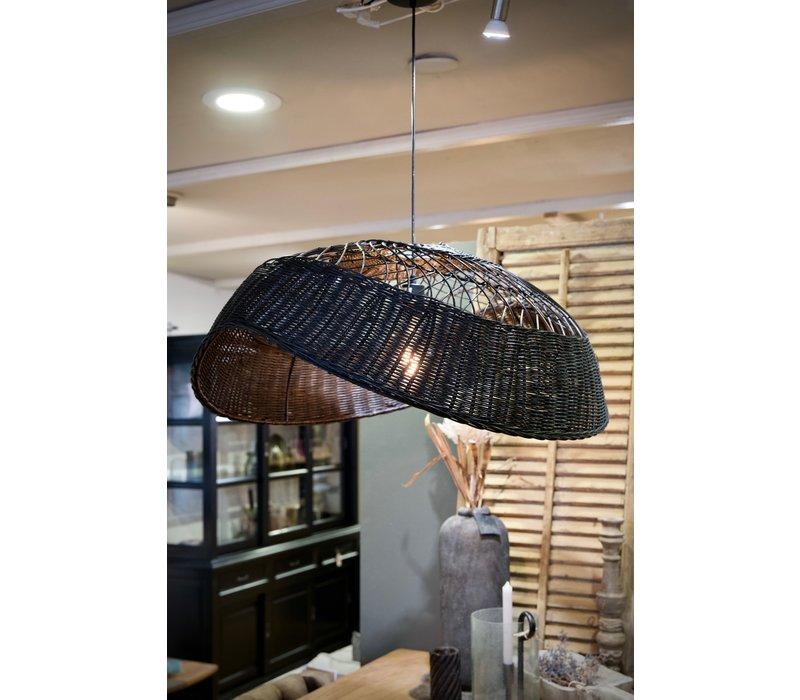 Hanglamp riet ovaal 90