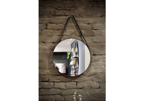Spiegel rond metaal zwart 40