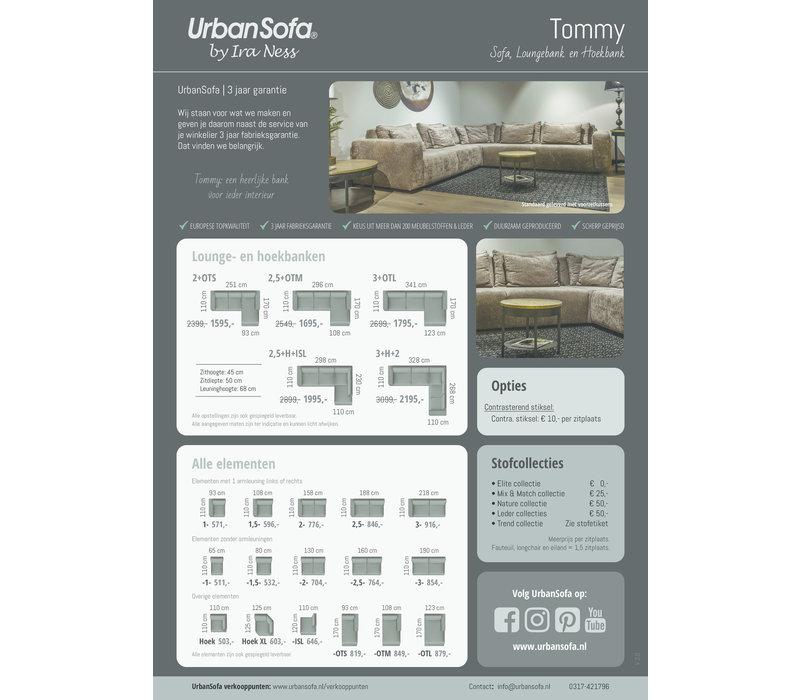 Zitbank Tommy showroom exemplaar