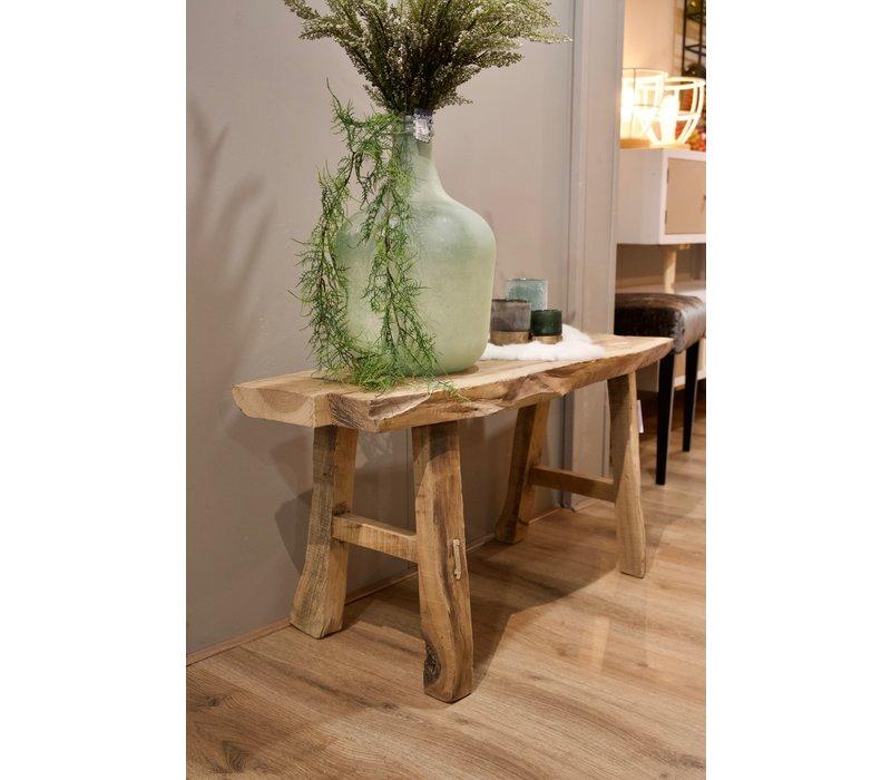 Bankje oud hout 100 cm
