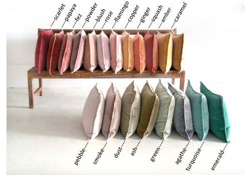ML Fabrics Kussen Pip washed velvet