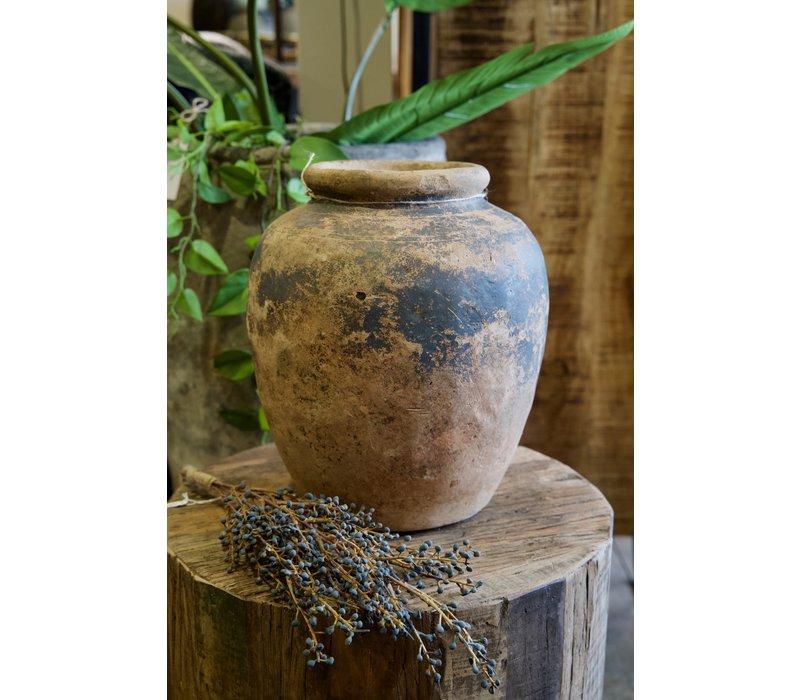 Oude terracotta vaas 2