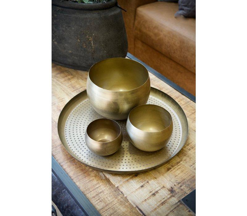 Dienblad bronze dot