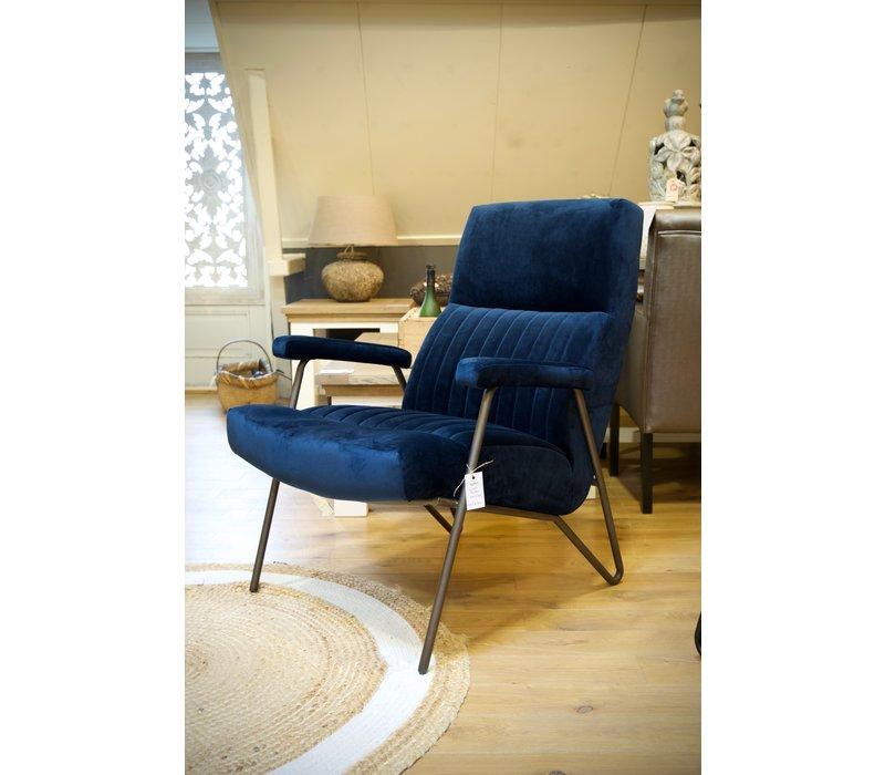 Fauteuil William showroom blauw