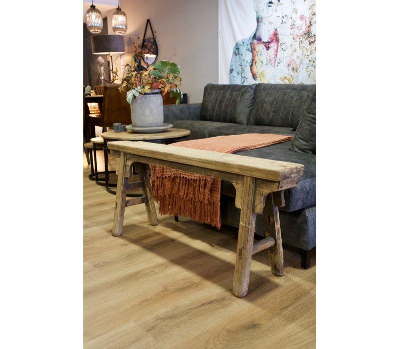 Authentiek houten bankje 6