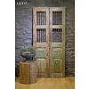 Oude deuren India sleets groen
