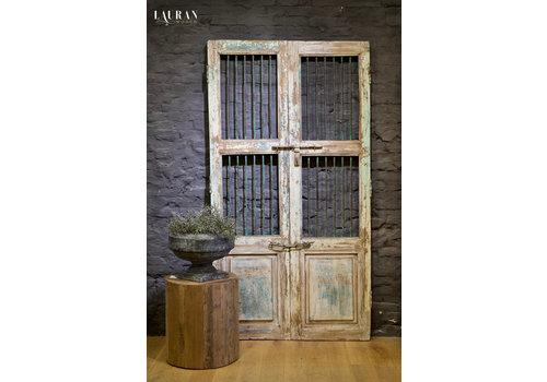 Oude deuren India wit/aqua