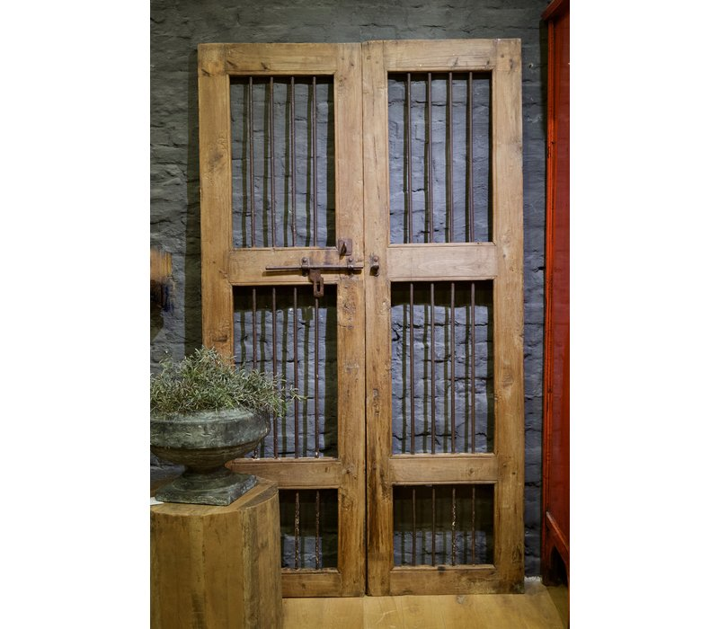 Oude deuren India bruin/teak