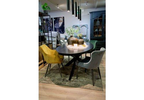 Eettafel Romy ovaal zwart (UrbanSofa) showroommodel