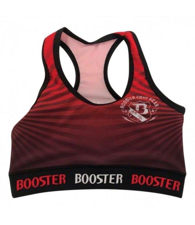 Booster Dames Top  Stripes Rood/Zwart