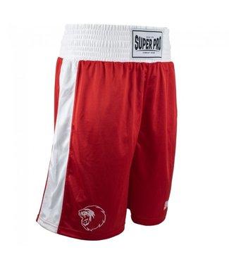 Super Pro Boxing Shorts Club Rood