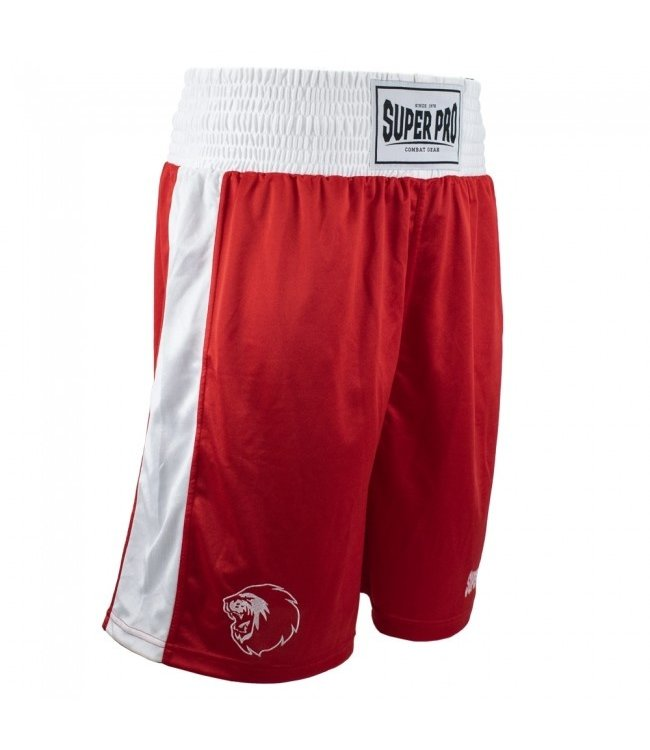 Super Pro Boxing Shorts Club Rood/Wit