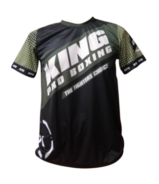 King Pro Boxing T-shirt Star Vintage Kaki