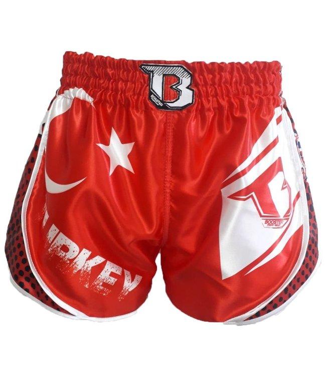Booster Kickboks Broekje Turkije Rood/Wit