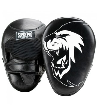 Super Pro Combat Gear Handpads Curved Leer