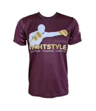 Fightstyle T-shirt Work Hard Bordeaux
