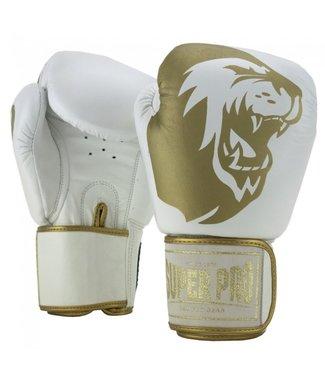 Super Pro Combat Gear Boxing Gloves Warrior White