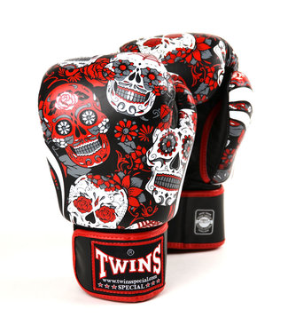 Twins Boxing Gloves Fantasy Skull Red