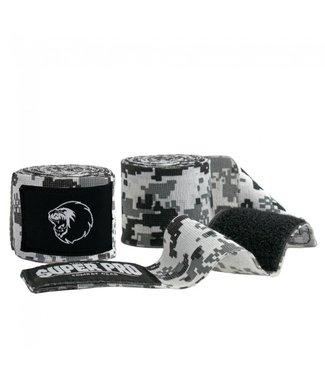 Super Pro Camo Hand Wraps Black