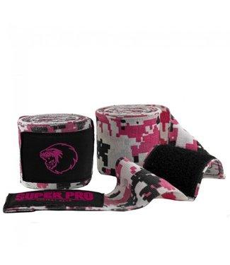 Super Pro Camo Hand Wraps Pink