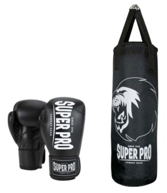 Super Pro Bokszak Set Zwart