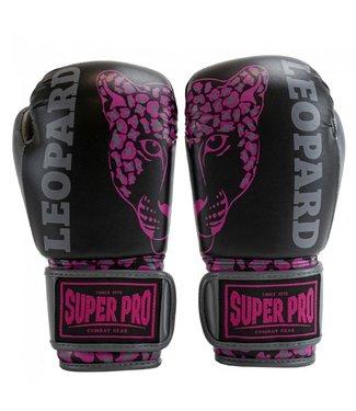 Super Pro Kinder Bokshandschoenen Leopard Roze